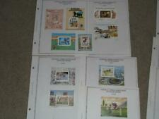 CENTRAL AFRICAN REPUBLIC SOUVENIR SHEETS, ALL USED