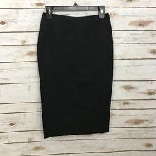 Theory Women's Black Pencil Skirt Size 4 Back Zipper