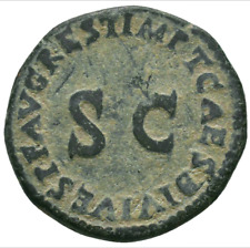 Lot 412: Tiberius Æ As. Restitution issue struck under Titus in Rome, AD 79-81.