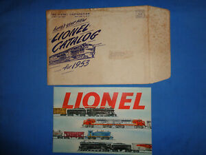 Lionel 1953 Consumer Catalog with Shipping Envelope.
