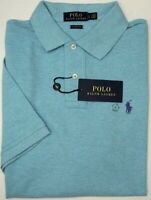 NWT $85 Polo Ralph Lauren Short Sleeve Blue Heather Shirt Mens L XXL Classic Fit