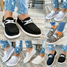 Women Comfort Slip On Flat Canvas Loafers Pumps Casual Trainers Sneakers Shoes