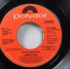 Pop Promo Nm! 45 James Last - Love For Sale / Love For Sale On Polydor