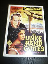 THE LEFT HAND OF GOD, film card [Humphrey Bogart, Gene Tierney]