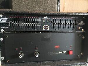 HH M900 professional power amplifier Inc Case