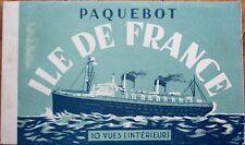 Steamship 'Ile de France' 1930s Book of TEN Realphoto Postcards-Steamer/Paquebot