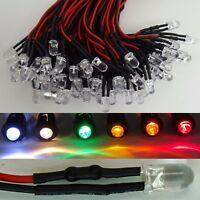 LED 5mm Klar 16-24V fertig verkabelt 9 Farben zur Auswahl Modellbau Hobby Beruf