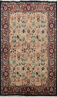 Vintage All-Over Art Deco Chinese Oriental Area Rug Hand-Knotted Wool Carpet 6x8