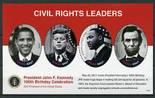 GHANA 2017 Gomma integra, non linguellato JFK John F. Kennedy 100th 4v m/s i Lincoln King Obama FRANCOBOLLI