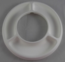 """Tupperware Chic Essentials Divided Party Ring White (Fits 10"""" Bowls) New"""
