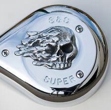 Skull insert for S&S air cleaner cover.  Harley Davidson. ISK-1