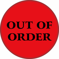 "31110 Red & Black Out Of Order Funny Comedy Joke Gift 2.25"" Refrigerator Magnet"