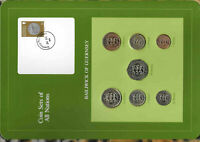 Coin Sets of All Nations Guernsey 1979-1983 UNC £1,20,50 Pence 1983 26OC84