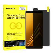 PASBUY Anti-Spy Privacy Tempered Glass Screen Protec for Samsung Galaxy A8(2018)