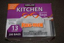 Kirkland Signature Flex Tech Drawstring Kitchen Trash Bags 13 Gallon 200 Bags