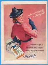 New listing 1938 Chesterfield Cigarettes Vintage 1930's Women's Hat Fashion Style Ad