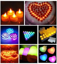 Unscented Colour-Changing Plastic Candles & Tea Lights
