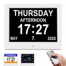 7.5 Inch Dementia Alarm Clock Alzheimers Clock with 3 Interfaces 5 Alarm Option