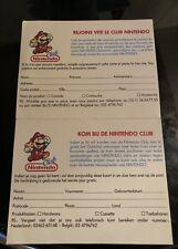 Nintendo Carte Vip Club Nintendo Nintendo Nes