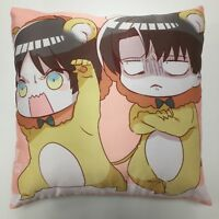 Attack On Titan Levi Eren Anime two sided Pillow Case Cover 256