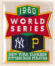 1960 World Series Patch Card Willabee Ward Pittsburgh Pirates / New York Yankees