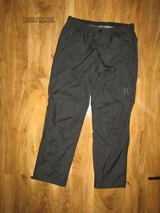 Haglofs size L short outdoor Hiking  Waterproof Breathable black Trousers