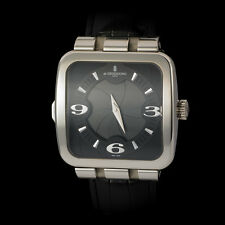 "De Grisogono 18K WG ""Fuso Quadrato"" Gent's GMT Time Zone. Camera Shutter Dial!"