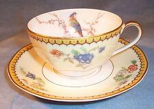 Haviland Limoge BLOIS Porcelain Coffee Tea Cup Mug Saucer Eden Paradise Chambord