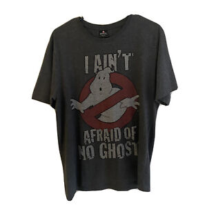 Ghost Busters Men's T-Shirt Size S I Ain't Afraid Of No Ghost