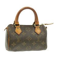 LOUIS VUITTON Monogram Mini Speedy Hand Bag M41534 LV Auth 15672