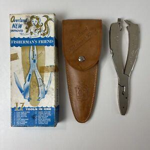 Vintage Overland Fisherman's Friend Multi Tool Pliers Knife Sheaf Box Germany