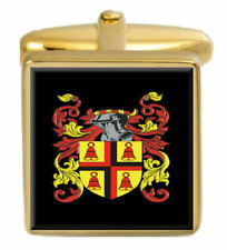 Vans Scotland Family Crest Surname Coat Of Arms Gold Cufflinks Engraved Box