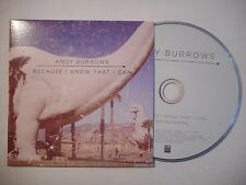 ANDY BURROWS : BECAUSE I KNOW THAT I CAN ♦ CD SINGLE PORT GRATUIT ♦