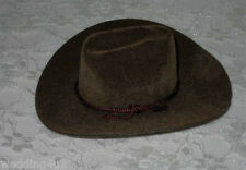 """3"""" Mini Western (2) Cowboy Hats ~Brown~ Party Favors Crafts Wedding Dolls"""