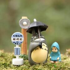 Studio Ghibli Small Street Lamp Bus Stop Umbrella Totoro Raincoat Mei Figure Toy
