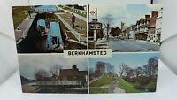 Vintage Postcard Berkhamsted Herts Multiview High st Canal Castle 3 Horseshoes