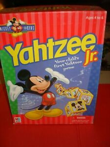 1998 Mickey Mouse Yahtzee Jr Milton Bradley Disney 100% Complete Vintage Clean