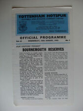 Reserves Tottenham Hotspur Teams S-Z Football Programmes