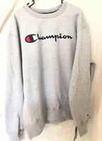 Champion Men's Graphic Powerblend Fleece Crew New Sweatshirt Blue Size Large L