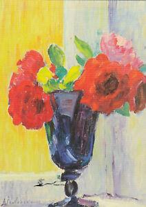 Postkarte: Jawlensky - Großes Stillleben: Rosen in blauer Vase / 1937