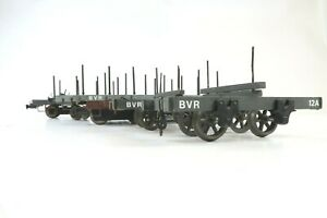 SCRATCH BUILT 16mm G SCALE RAKE OF 5 BVR BOGIE BOLSTER WAGONS