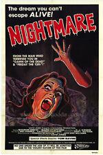 NIGHTMARE Movie POSTER 27x40 Baird Stafford Sharon Smith C.J. Cooke Mik Cribben