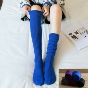 Ladies Long Socks Winter Wool Blend Mid Calf Thick Knee High Cashmere Stockings