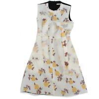 Celine - Phoebe Philo - Floral Flare Dress - White Yellow Black - US 4 - 36