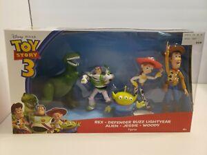 B9 Mattel Disney Toy Story 3 Figure Set Rex Buzz Alien Woody Jessie 2009