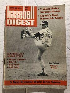 1970 Baseball Digest BALTIMORE ORIOLES Jim PALMER World Series