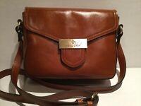 NWT Patricia Nash Heritage Collection Ardea Tan Leather Crossbody Bag P55301