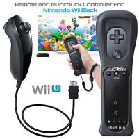 For Nintendo Wii & Wii U Built in Motion Plus Remote Controller And Nunchuck