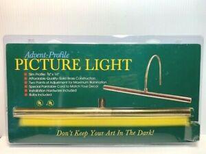 "Advent Profile Picture Light 16"" x 7/8"" Solid Brass w/ Bulbs Art Decor Lighting"