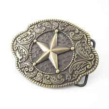 Vintage Gold Alloy Texas Sheriff Star Badge Western Belt Buckle + FREE GIFT BOX